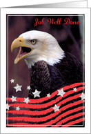 Military Spouse Appreciation Day, Bald Eagle, stars, stripes card