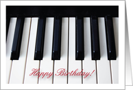 Birthdays / To a Pianist, piano keys card