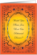 Halloween Wedding Rehearsal Dinner Invitation card