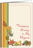 Thanksgiving Greetings to Boyfriend card