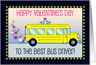 Valentine's Day / To Bus Driver, hearts card