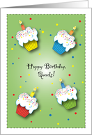Birthday / For Quads, cupcakes card
