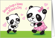 Mother's Day, Pandas card