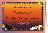 Announcement, CPA 2013 graduation card