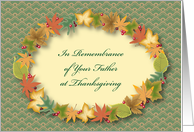 Thanksgiving, in Remembrance of Your Father card