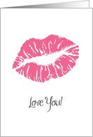 Father's Day, Romance Theme, lipstick card