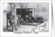 Father's Day, to Mailman, vintage photo card