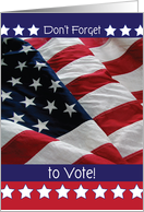 Don't Forget to Vote, USA flag card