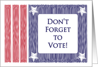 Don't Forget to Vote, USA card