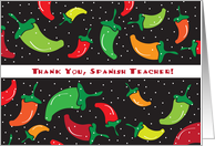 Thank you, for Spanish Teacher, chili peppers card