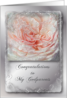 Congratulations, Wedding for Godparents card