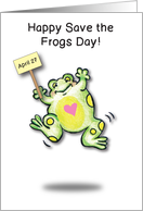 Save the Frogs Day, April 27 card