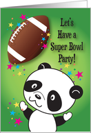 Invitation to Super Bowl Party, panda card