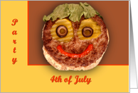Happy Hamburger card