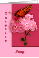 Gulf Fritillary, Surprise Party card