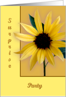 Sunflower, Surprise Party card