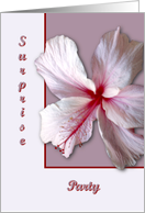 Hibiscus, Surprise Party card