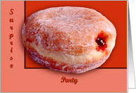 Jelly Filled Donut, Surprise Party card