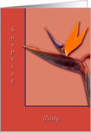 Bird of Paradise Surprise Party card