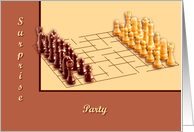 Chess Set Surprise Party card