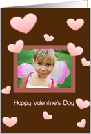 Valentine, Hearts, Photo Card