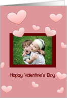 Valentine Photo Card, Hearts card