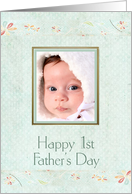 1st Father's Day, photo card