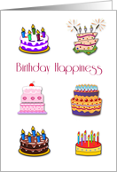 Birthday Quadruplets, Cakes card