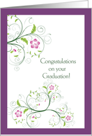 Graduation Congratulations, Her, Butterfly Swirls card