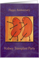 Kidney Transplant Invitation, Kidney Beans card