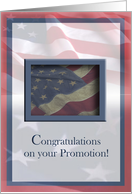 Congratulations, Promotion, Military card