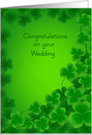 Wedding Congratulations, St. Patrick's Day, Clover card