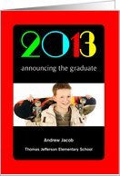 Elementary School Graduation Announcement, Magazine Cover, Photo Card