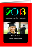 College Graduation Announcement, Magazine Cover, Photo Card