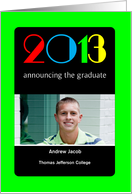 Graduation Announcement, College, Magazine Cover, Photo Card