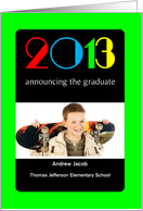 Graduation Announcement, Elementary School, Magazine Cover, Photo Card