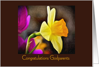 Godparents Wedding Congratulations, Daffodil card
