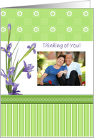 Thinking of You, Iris, Photo Card