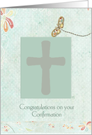Congratulations on Confirmation, Cross, For Girl card