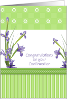 Congratulations on Confirmation, Iris, For Girl card