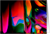 An Art Show Invitation-Digital Art-Abstract-Curvy Colours-Many Colours card
