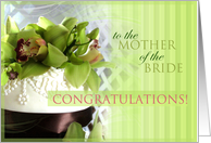 Congratulations to the mother of the bride card