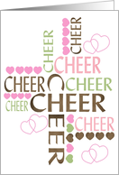 Cheer Cross card