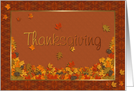 Remembrance Thanksgiving card