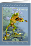 Birthday, Frog with fiddle card