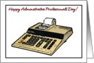 Happy Administrative Professionals Day Calculator Illustration card