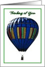 Thinking of You Hot Air Balloon Illustration card