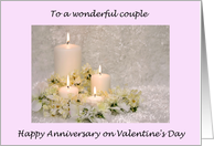 Valentine Anniversary for Couple card