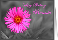 Birthday Pink Flower for Bonnie card