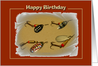 Happy Birthday Fishing Lures card